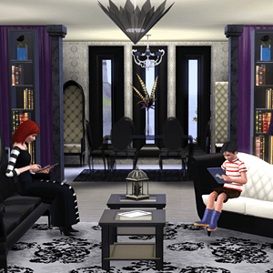 Gothic Glamour Home Office Ataxophobia Away Bookcase Store The Sims 3