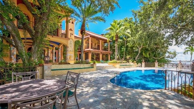 A nice patio area in Sarasota, if you can afford it.