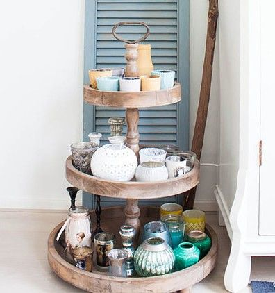 Give your decor a new spin anytime you want with a lazy Susan.