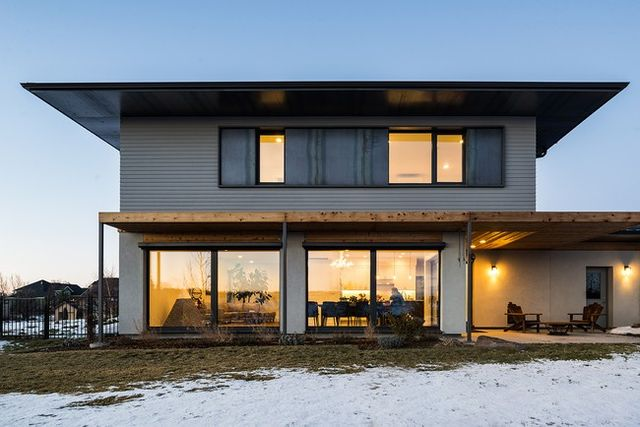 The Vonde family's Passive House in Boise, ID means cozy winters and low energy bills.