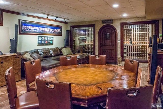 Card room and wine cellar