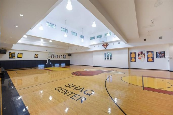 Shaq's 6,000-square-foot indoor basketball court as it is today