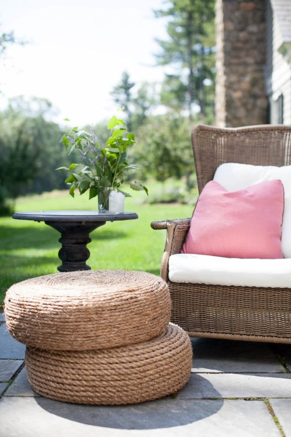 Patio poufs