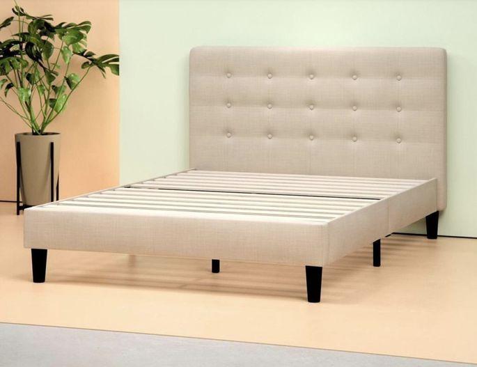 A platform bed