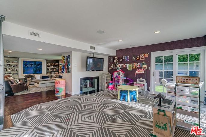 Playroom of the family room
