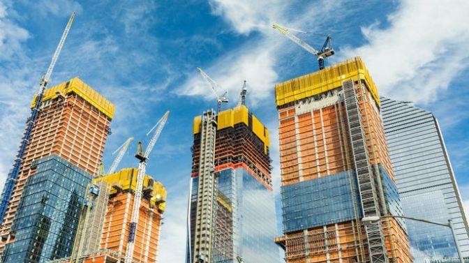 Hudson Yards construction in New York, NY