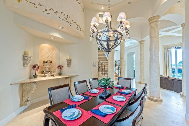 The spacious dining room is just as light-filled as the rest of the house.