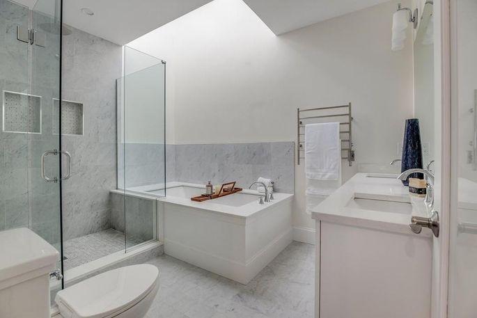 Master bath with heated floor