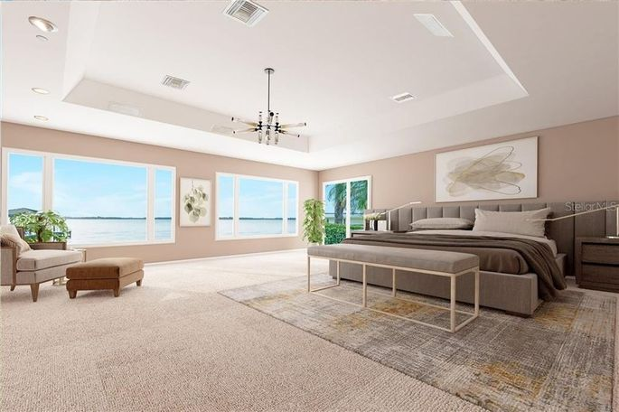 Shaq's Florida master suite as it could be
