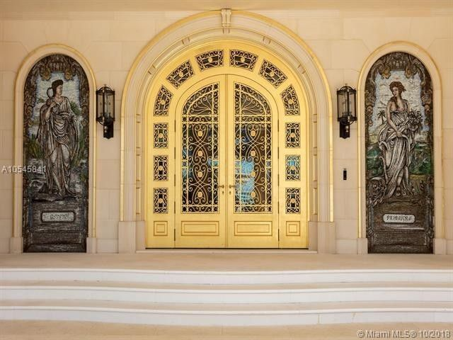 The property is adorned with $3 million in gold leafing.
