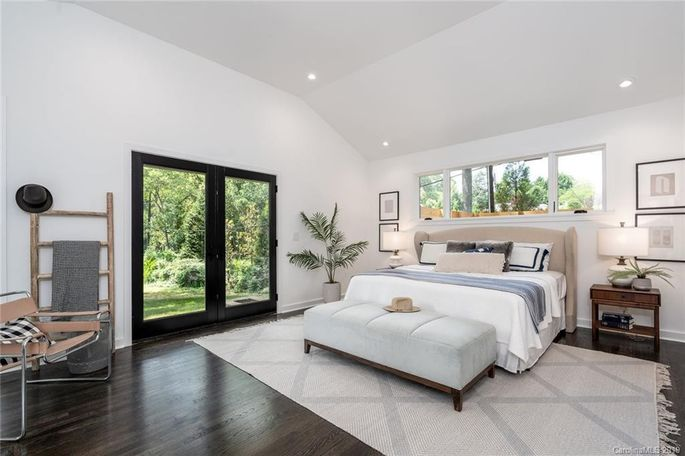 Raising the roof in the master bedroom brings light into the space.