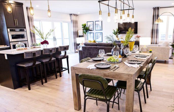 Light wood floors make a modest-sized home seem larger.