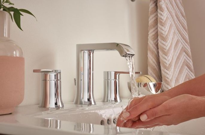A low-flow bathroom faucet can reduce water use by 30% compared with conventional faucets.