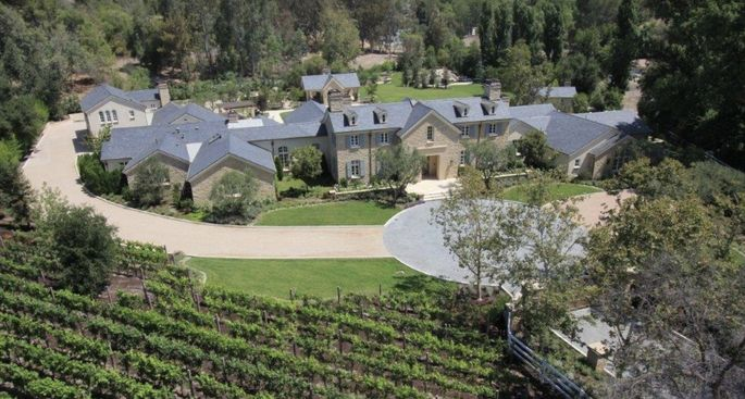 The Hidden Hills, CA, home of Kim Kardashian West and Kanye West