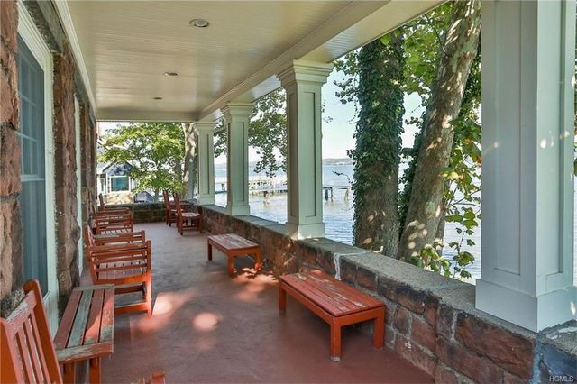 Wraparound porch of second largest home