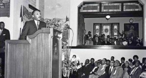 Martin Luther King Jr speaking at CalTech
