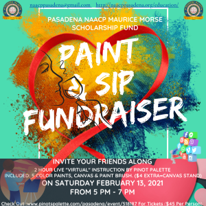Paint and Sip Fundraiser flyer