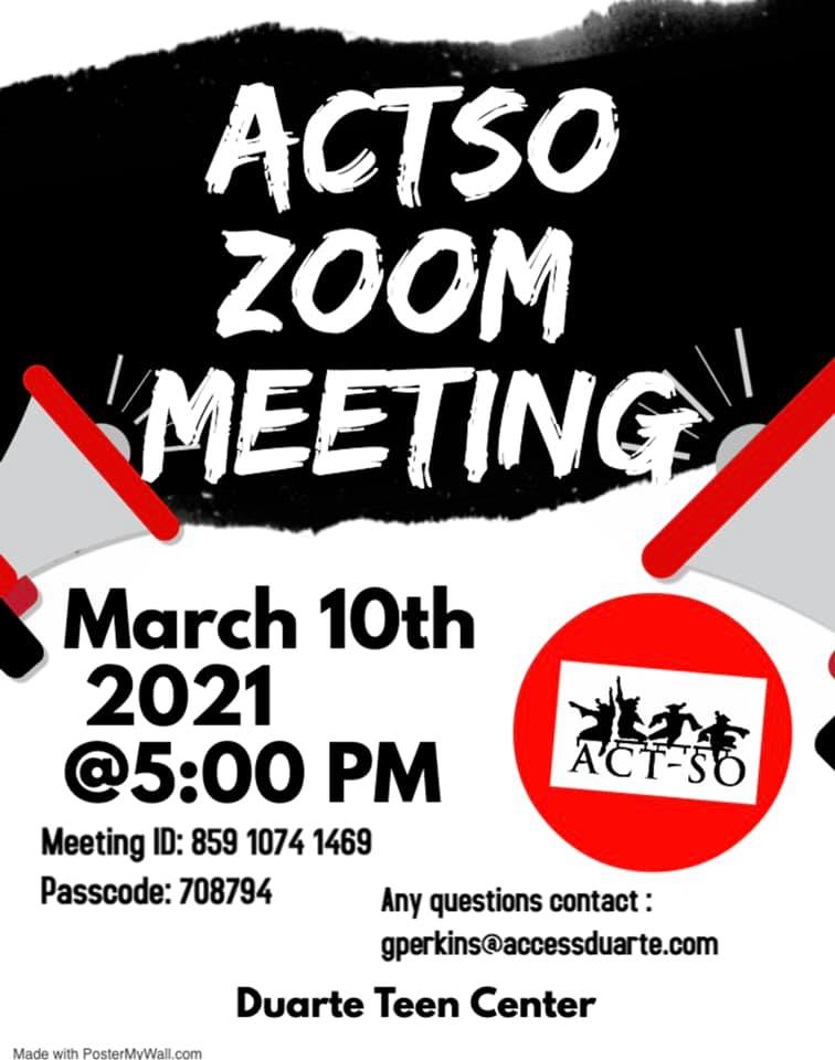 ACTO March 2021 meeting flyer