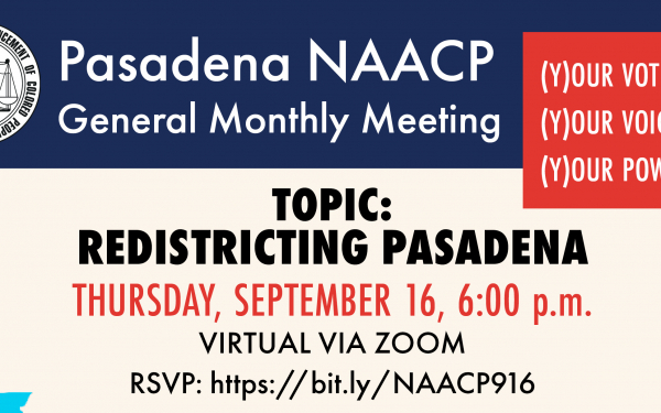 NAACP Redistricting Meeting invitation Sept16