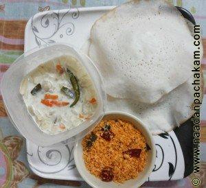 palappam stew chammanthi