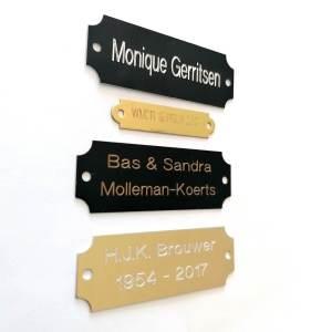 Metalen deurplaatje kopen