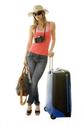Woman adventure travel