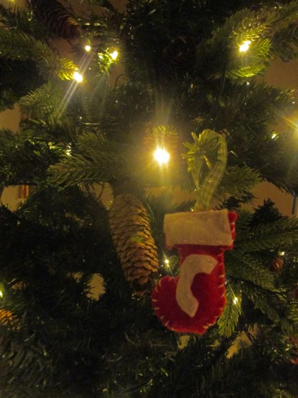 C stocking on tree