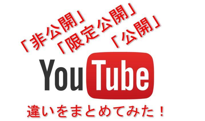 YouTube「非公開」「限定公開」「公開」の違い