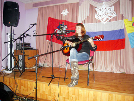 """Анна Пименова с песней """"Голубая мечта"""""""