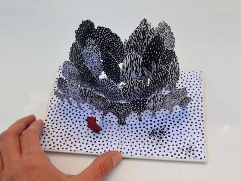 leporello, carte 3 d, livre objet, livre miniature, pop-up, livre d'artiste