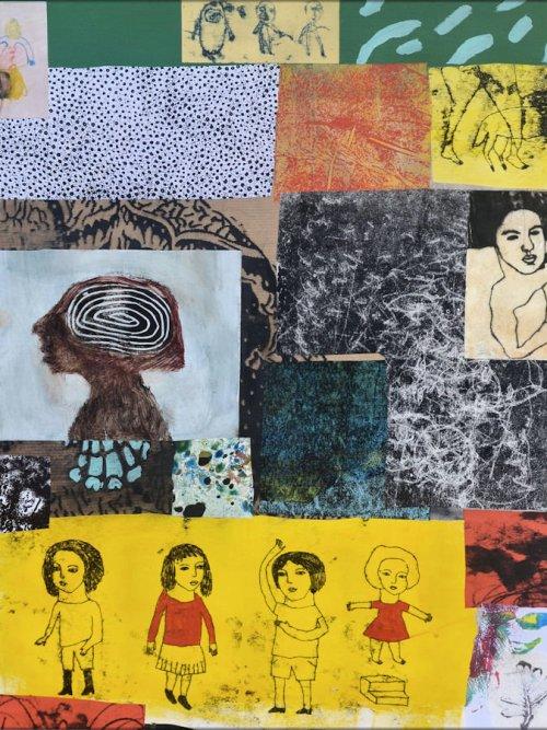collage contemporain art brut art singulier nabarus