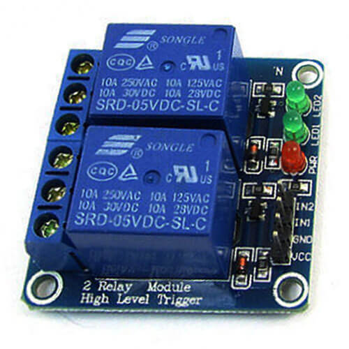 2 Channel 5V 10A Relay Module