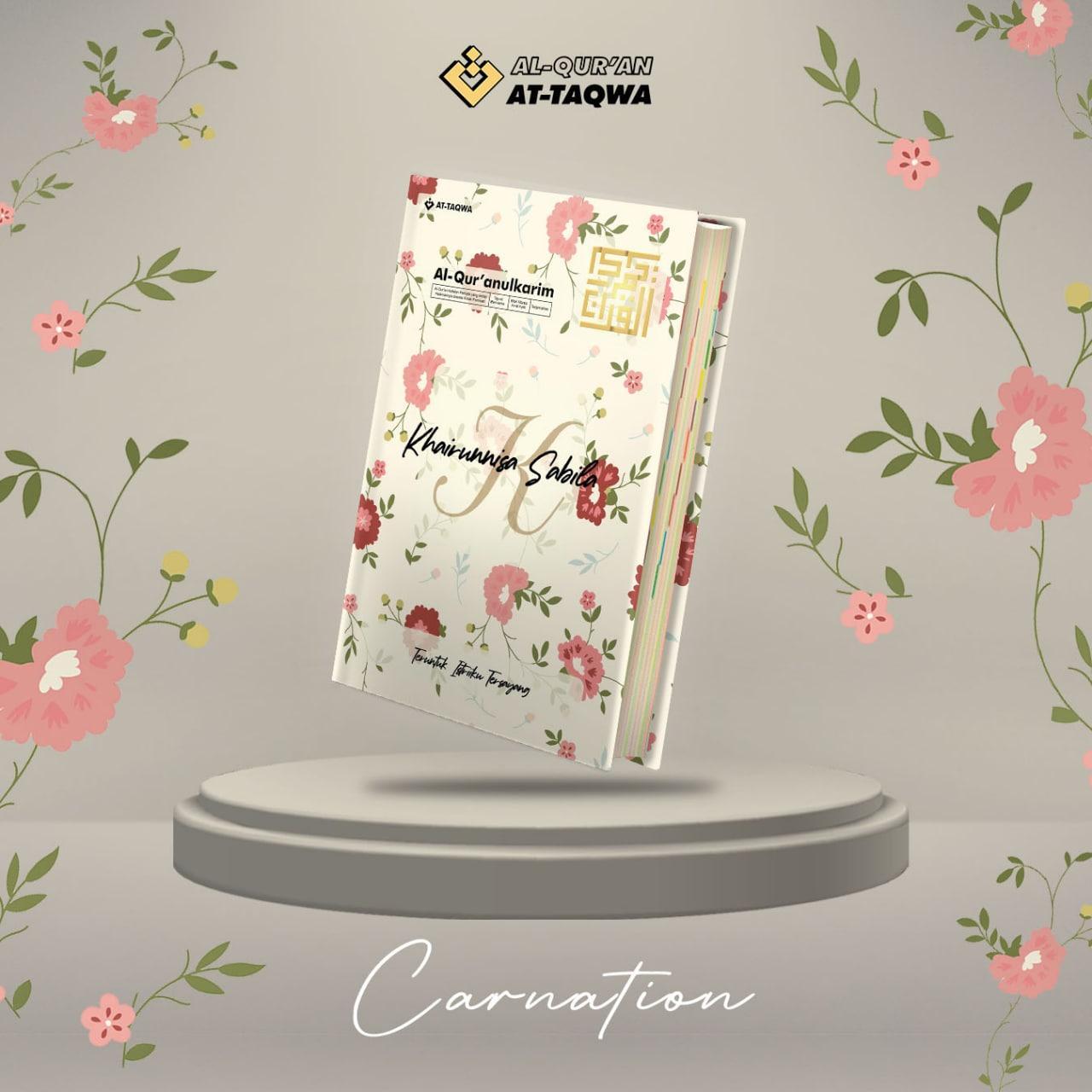 Al Quran Floral At Taqwa Carnation Krem