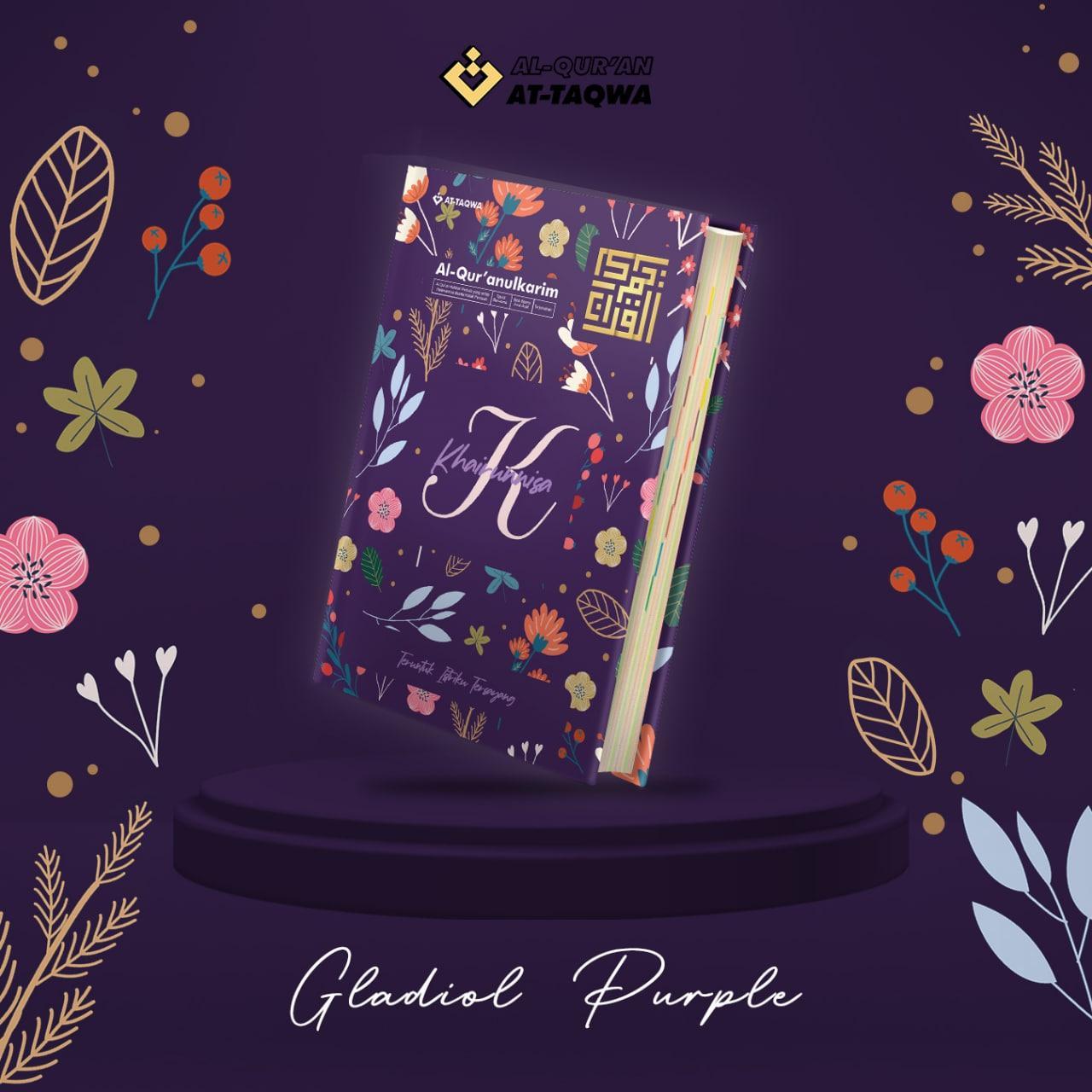 Al Quran Floral At Taqwa Gladiol Purple
