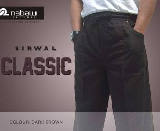 nabawi clothes sirwal classic dark brown