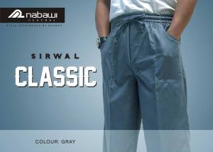 nabawi clothes sirwal classic gray