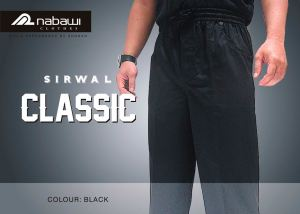 nabawi clothes sirwal classic hitam