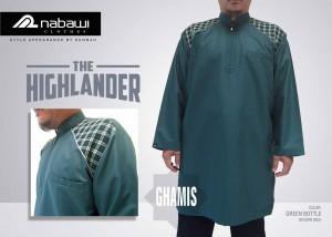 nabawi clothes gamis the highlander long green bottle