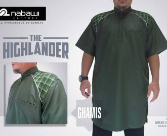 nabawi clothes gamis the highlander short green army