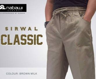 nabawi clothes new sirwal classic brown milk