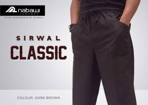 nabawi clothes new sirwal classic dark brown