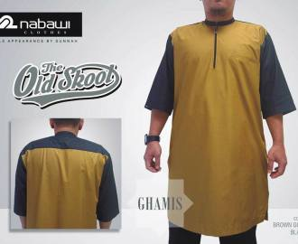 NabawiClothes Baju Ghamis Old Skool Brown gold