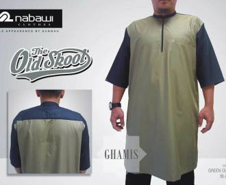 NabawiClothes Baju Ghamis Old Skool green olive