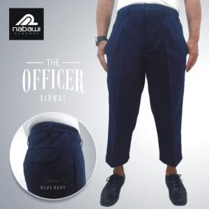 Nabawi Clothes - sirwal celana muslim ikhwan pria kantoran sunnah biru