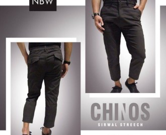 Celana Sirwal Muslim Pria CHINOS Model Slim Pensil by NBW abu