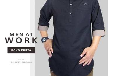 Koko Kurta Ikhwan Reglan Men at Work by Nbw hitam