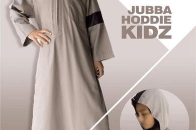nbw Baju Gamis Jubah Muslim Hoodie Anak Keren coklat muda