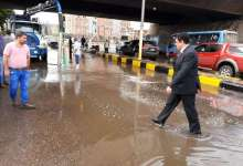 """Photo of الطريق الإقليمي الحر """"بنها -شبرا"""" مغلق بسبب هبوط أرضي نتيجة الأمطار"""