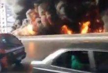 Photo of احتراق سيارة محملة بالبنزين أعلي الدائري بالخصوص