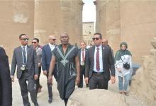 Photo of الممثل الفرنسي جيمي لويس يزور أهرامات الجيزة وآثار سقارة